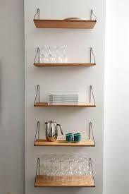 etageres murales cuisine étagère murale design scandinave en bois frama deco