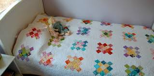 pick a plum quilt aka granny squares finished blooming poppies