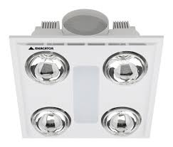 cosmo quattro 12w led bathroom 3 in 1 exhaust fan light heater white