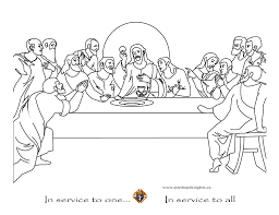 Jesus Last Supper Coloring Pages Last Supper Coloring Page