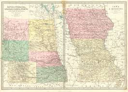 Hamilton Montana Map by Maps Antique United States Us States Montana