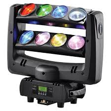 american dj led spider moving beam wash light 8x10w rgbw 4in1