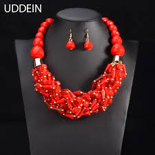 african beads necklace sets images Uddein african beads jewelry sets statement necklace pendant bib jpg
