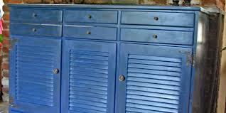 buffet makeover using napoleonic blue chalk paint