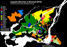 French Canada Map by A Super Not At All Map Of Montreal Showing What Languages