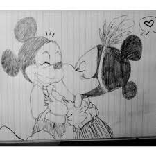drawing minnie mickey u003c3 bored u0027s pouring