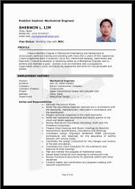 Sjsu Resume Cover Letter Mechanical Engineering Sample Resume Mechanical