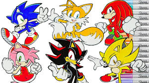 sonic the hedgehog coloring page sonic the hedgehog coloring book pages tails knuckles shadow amy