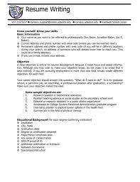 Job Resume General Objective by Job Examples Examples Of A Good Resume Of Resumes Resume General