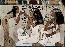 ancient egyptian customs ta meri pinterest egyptian ancient egyptian wall painting ladies at their toilet probably a tomb painting
