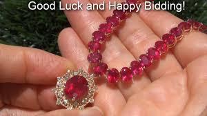 necklace diamond ebay images Ruby diamond cocktail necklace 97 000 estate auction sale ebay jpg