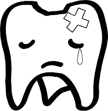 sad tooth dental coloring page wecoloringpage
