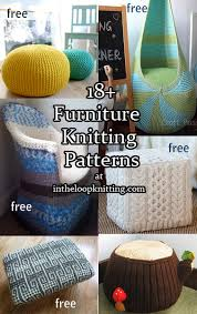 Knit Pouf Ottoman Pattern Furniture Knitting Patterns In The Loop Knitting