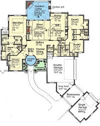 french country manor 48354fm architectural designs house plans french country manor 48354fm floor plan main level