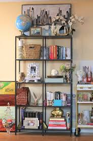 Gold Bookshelves by Styling A Bookshelf Home Decorating Tips