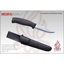 mora companion stainless steel czarny bushcraftpl com sklep
