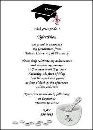 college graduation announcement wording commencement announcement wording 17 best pharmacy graduation