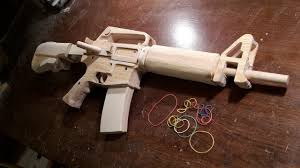 how to make a semi auto m16 rubberband gun free templates