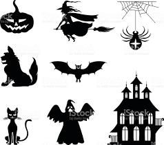 halloween pic art halloween silhouette set stock vector art 489481122 istock
