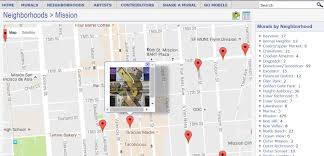 Map Of San Francisco Neighborhoods by A Map Of San Francisco U0027s Street Art U0026 Murals By Neighborhood