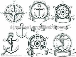 anchor compass tribal skin safe tattoo sticker tattoo ideas