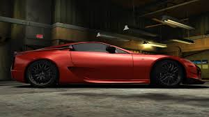 lexus lfa 0 60 need for speed carbon lexus lfa nfscars