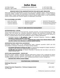 Example Resume by Healthcare Administration Sample Resume 2 Hospital Administrator