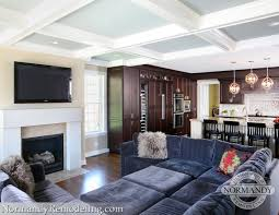 coffered ceiling paint ideas coffered ceiling makes design statement normandy remodeling