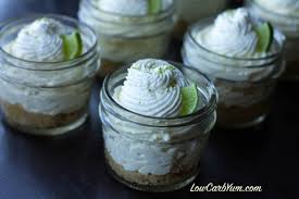 lime no bake key lime cheesecake in a jar low carb yum