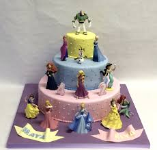 3 Tiered Halloween Cakes 3 Tier Quilted Disney Princess Cake Children U0027s Birthday Cakes