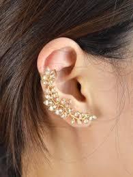 ear cuffs images leaf shape ear cuffs golden earrings zaful