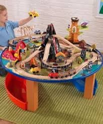 train and track table kidkraft firefighter 10 piece fire station set gift ideas pinterest