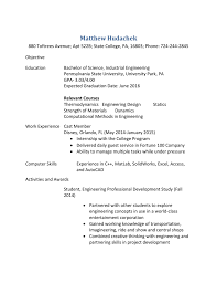 Industrial Engineer Sample Resume by Sample Resume For Industrial Engineer Free Resume Example And