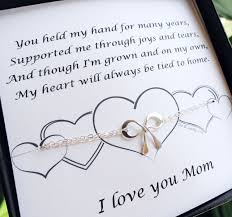 mothers day gift mothers day card gifts for mom silver bow