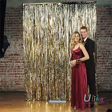 Silver Foil Curtains 180pcs Lot 100cm W 400cm H Silver Foil Curtain Metallic Foil