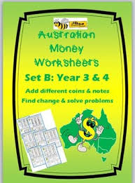 australian money worksheets year 3 u0026 4 by jbee educational resources