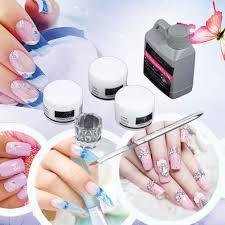 portable nail art tool kit set crystal powder acrylic liquid dish