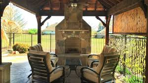 Outdoor Entertainment Center - outside fireplace contractor texas best fence