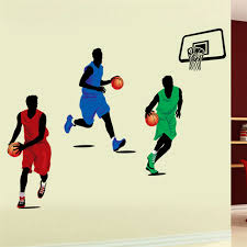 Sports Decorations Aliexpress Com Buy Playing Basketball Wall Stickers For