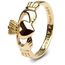 ring gold 10k gold claddagh ring smg 10g7