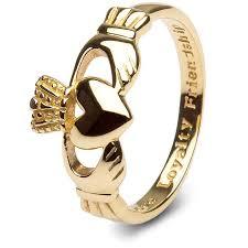 ring gold 10k gold claddagh ring smg 10g7