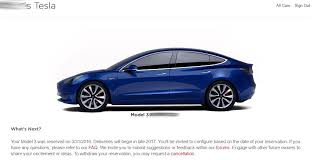 tesla updates first update of model 3 reservations since launch