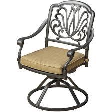 hampton bay edington swivel rocker patio lounge chair with celery