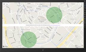 android geofence dotnet by exle visualizing geofences as circles on the map in