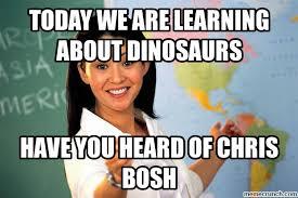 Chris Bosh Dinosaur Meme - bosh the dinosaur