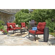 Amazon Com Merax 4 Piece Outdoor Pe Rattan Wicker Sofa And Chairs - anderson 4 pc deep seating set all patio collections ace