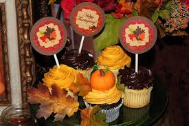 thanksgiving cupcake toppers holidays sukkot favor tags