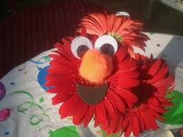 elmo flower centerpieces for kids birthday parties red gerber