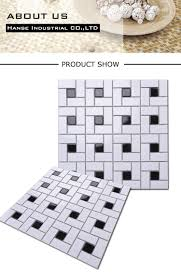 md059t floor mosaic bathroom tile black and white pattern buy