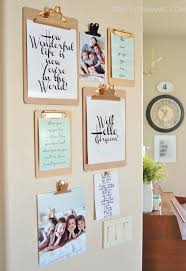 Office Wall Decorating Ideas Clipboard Wall Art With Free Printables Clipboards Gallery Wall